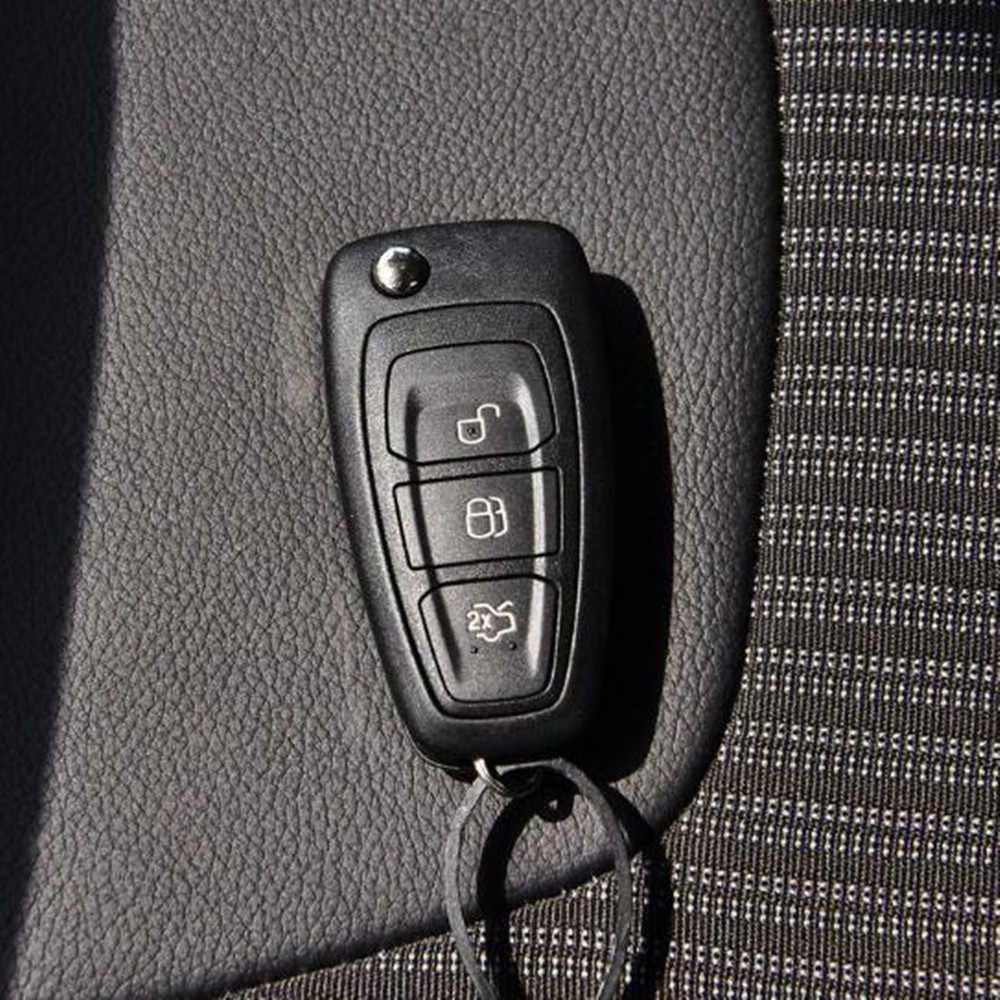 Zlord คาร์บอนไฟเบอร์รถป้องกันฝาครอบสติกเกอร์สำหรับ Ford Focus 3 4 MK3 MK4 Ranger Kuga Escape คีย์พับ