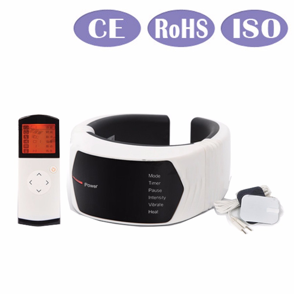 Wireless Remote Control Neck massager Acupuncture Magnetic Cervical Therapy cervical vertebra Treatment Instrument Health Care wireless remote control neck massager health care cervical therapy instrument infrared heating beauty