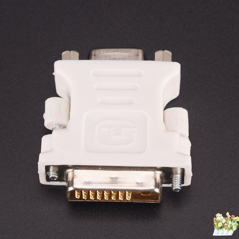 - 25 Pin (Dual Link) DVI-D Male To 15 Pin VGA Female Video Computer Monitor Adapter 24+1 Pin DVI-D-D-M To VGA-F Adapter цена 2017