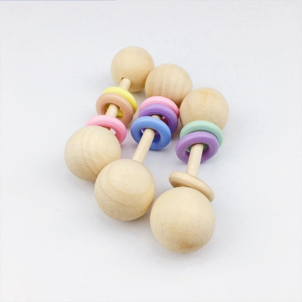 atacado 12 pcs anel ginasio jogar presentes do chuveiro de bebe mordedores brinquedos de madeira de