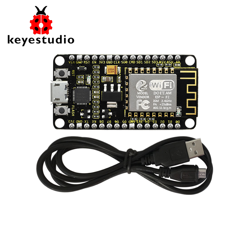 Keyestudio ESP8266 CP2101 WI-FI Module Shield +1M Micro USB Cable For Arduino (Chip Is CP2102-GMR)