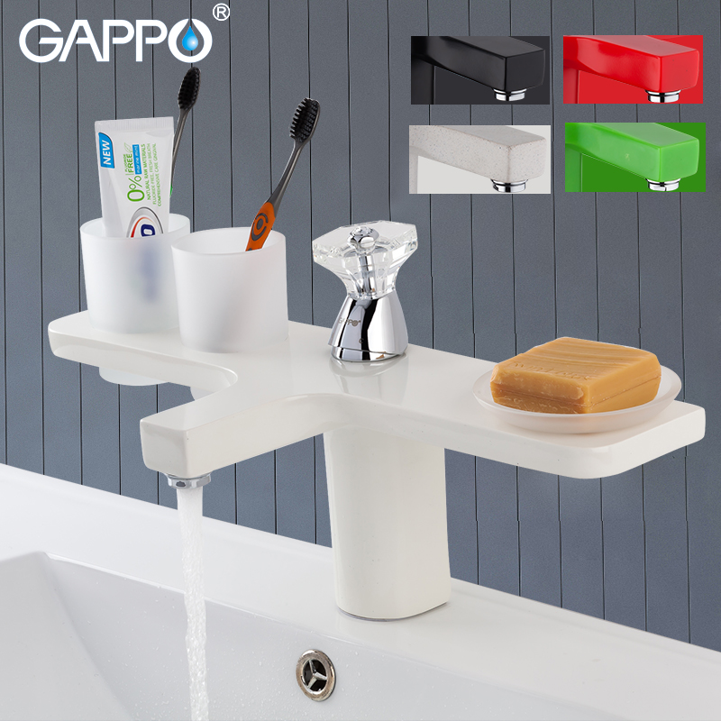 GAPPO basin faucets 5 colors basin mixer faucet for bathroom sink faucets waterfall bathroom faucet mixer tap torneira tapware  GAPPO basin faucets 5 colors basin mixer faucet for bathroom sink faucets waterfall bathroom faucet mixer tap torneira tapware