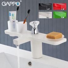 GAPPO basin faucets 5 colors mixer faucet for bathroom sink waterfall tap torneira tapware