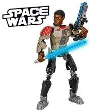 KSZ 605-3 Star Wars 7 Minifigures Captain Phasma Rey Poe Dameron Finn Figure toys building blocks compatible legoe