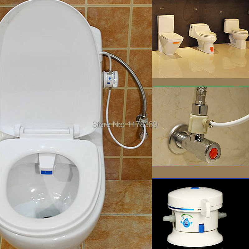 single cold water ABS toilet seat bidets washing woman Buttocks ...