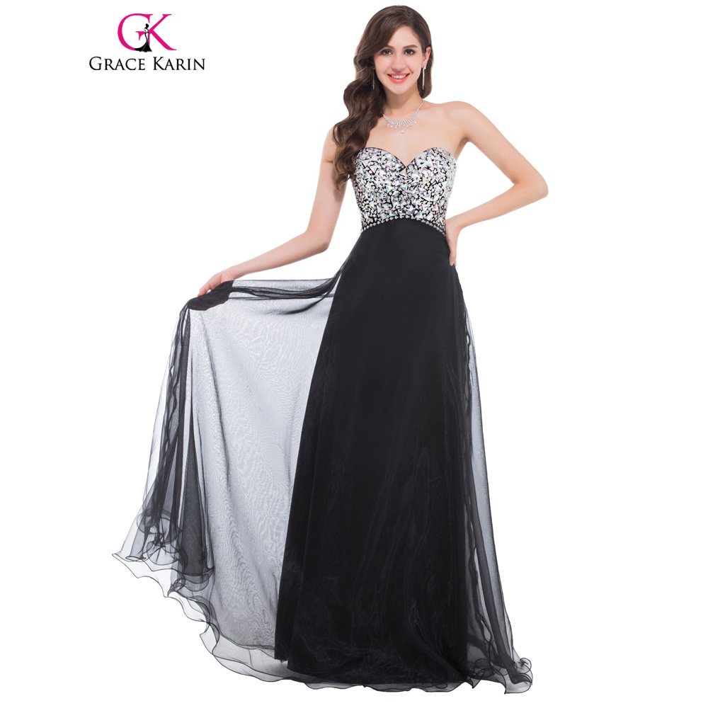Grace Karin Evening Dress Long Sequin Pink Purple Blue Black Evening ...