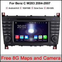 7 2 Din Octa Core Android 6 0 1 Car DVD GPS For Mercedes Benz C