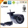 Full HD 1080 P HI3516C + 1/2. 8 '' SONY IMX322 IP câmera com áudio câmera de 2MP IP com externo microfone captador Outdoor bala CCTV