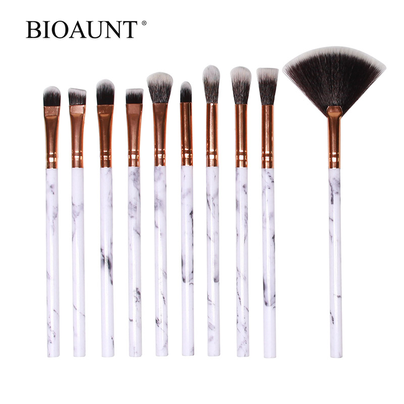 Makeup-Brushes Eyeshadow Face-Foundation Marble Eyebrow BIOAUNT Maquiagem Pinceles Women's