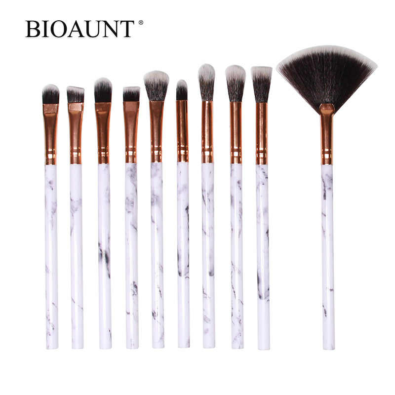 BIOAUNT 1 pc vrouwen Marmeren Make-Up Kwasten Gezicht Foundation Wenkbrauw Oogschaduw Blush Poeder Borstel Make-Up Maquiagem Pinceles