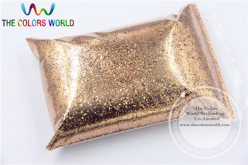 TCM0400 light copper Color Glitter powder -0.4MM nail glitter hexagon dazzling glitter powder,DIY Flash powder
