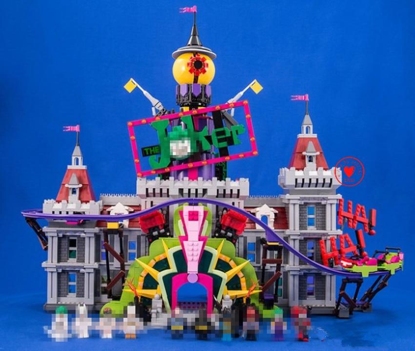 Nuova DC SuperHeroes Joker Maniero batman fit legoings batman joker castello figures Building Blocks Mattoni fai da te giocattoli 70922 regali kid
