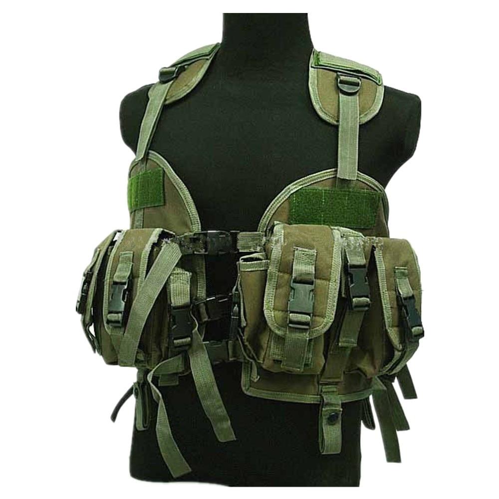 US Navy Seal CQB LBV Modular Assault Vest Coyote Brown OD BK