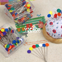 400pcs / lot patchwork needle flower pins locating pin handmade auxiliary tools christmas gift