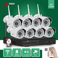 ANRAN Plug And Play Security CCTV System HD 2MP 8CH NVR Day Night Outdoor Waterproof 48