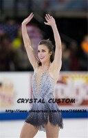 Crystal Custom Figure Skating Dresses For Girls Graceful New Brand Ice Skating Dresses For Competition DR4333