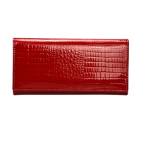 Shining Women Crocodile Leather Wallet Women Long Genuine Leather Functional Female Clutch Purse Brand Coin Pocket