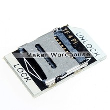MicroSD Card Adapter for Raspberry Pi 23 X 14 Mm Low-profile Easy To Use Suiting for Normal MicroSD Card Metal Seat