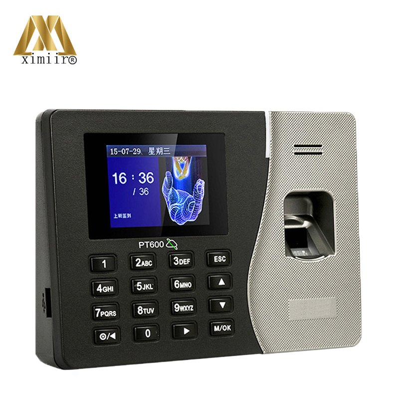SDK Software TCP/IP Communication Linux System 2.8 Inches TFT Screen 100000 Logs Capacity PT600 Fingerprint Attendance Machine