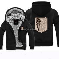 Attack On Titan Hoodies Winter Sweater Hoody Shingeki No Kyojin Wing Cosplay Costume Jacket Eren Jaeger