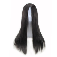 QQXCAIW Women Long Straight Cosplay Natrual Black Light Brown Dark Brown 70 Cm Synthetic Hair Wigs