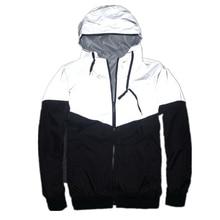 Uplzcoo full reflective jacket men/women harajuku windbreaker jackets hooded hip hop streetwear night shiny zipper coats JA244