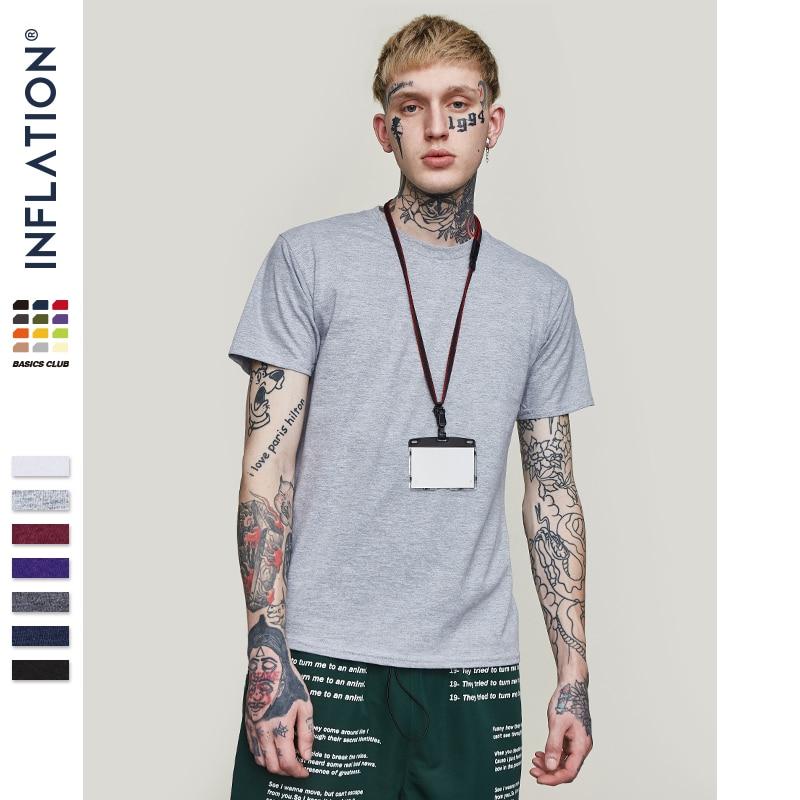 INFLATION Package Sale Plus size fashion men tshirts 100 Cotton O Neck Men s Plain T