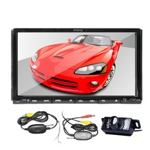 7-inch Double two din in Dash Car DVD Player Stereo Radio Audio Touchscreen LCD Monitor Free GPS Map+ Free Wireless Camera
