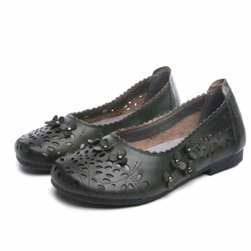 ZXRYXGS/Брендовая обувь; женские сандалии ручной работы в стиле ретро; модные сандалии из натуральной кожи с цветочным узором; мягкие удобные женские сандалии