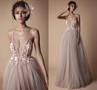 Sexy V Neck Robe De Soiree Longue 2019 Evening Dresses Long A Line Lace Prom Party Dress Special Occasion Gowns