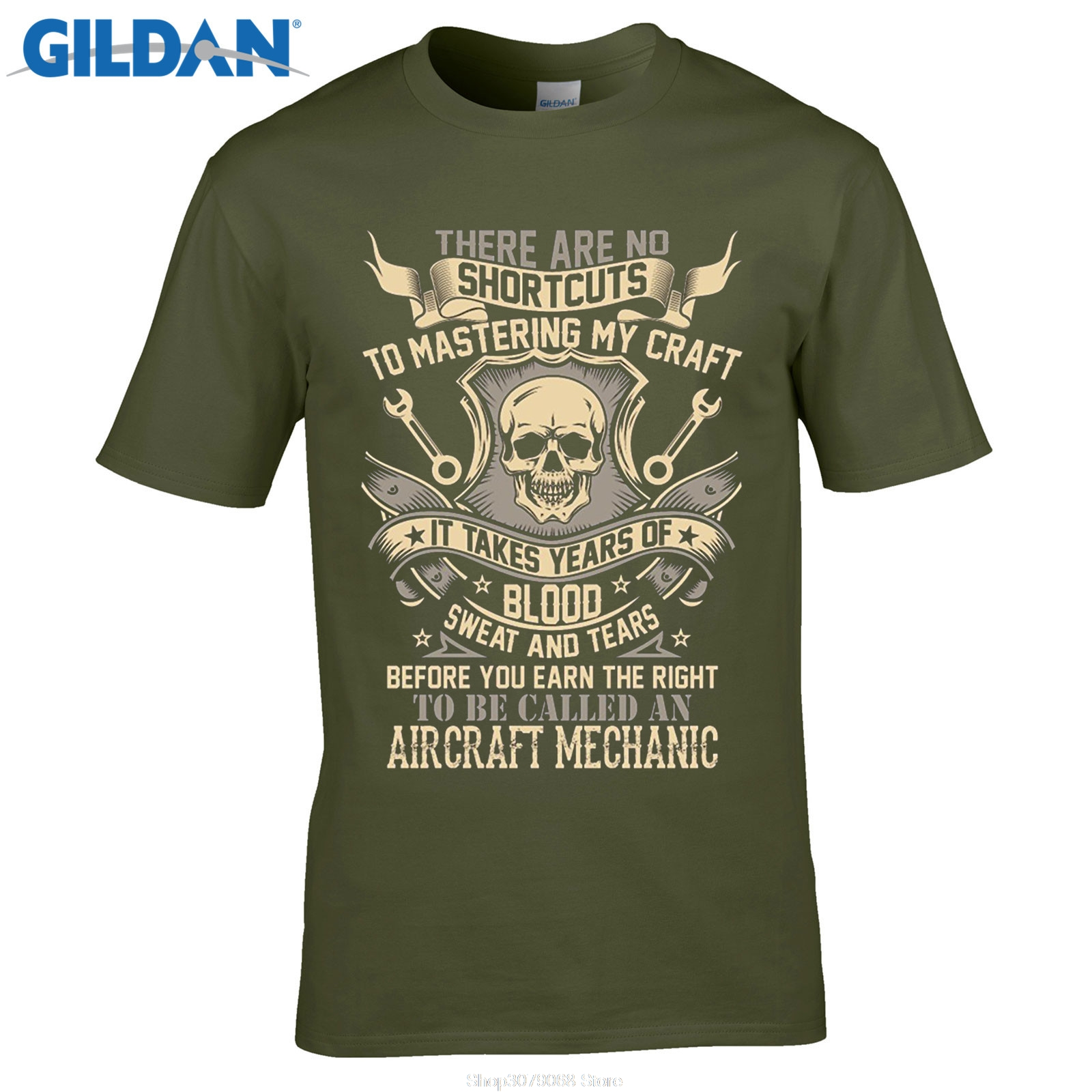 GILDAN Loose Clothes Printed Tee Shirt Design Cool Designs Crew Neck Short Sleeve Christmas Aircraft Mechanic On Aliexpress