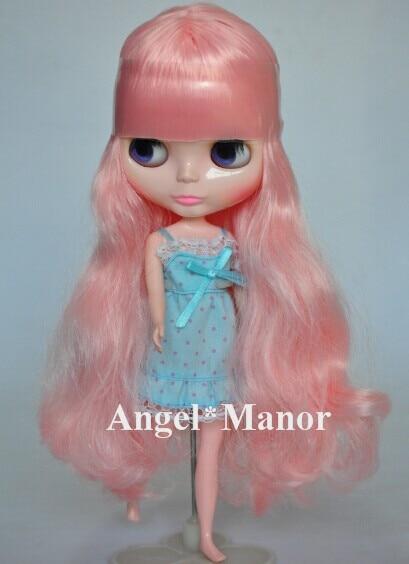 Free shipping Nude Blyth Doll, pink hair, big eye doll,For Girl's Gift,PJ002 free shipping nude blyth doll black5 hair big eye doll for girl s gift pjb005