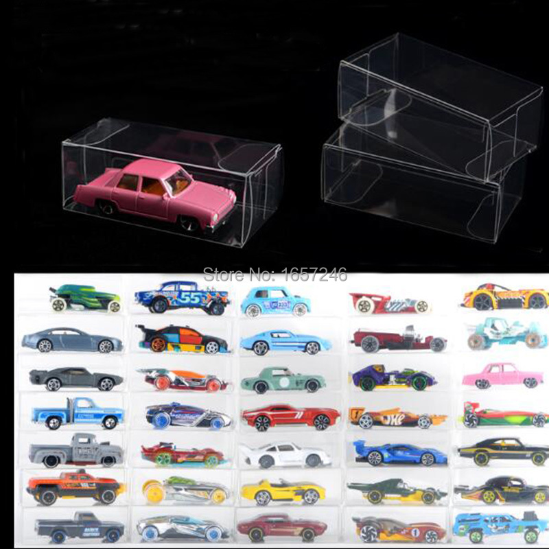 50PCS Plastic Protection Box for Hot Wheels Matchbox TOMICA Display Case//Box