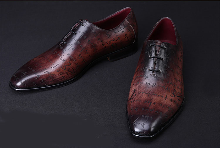 9e7443c0a03d TERSE New De Luxe style Hommes Chaussures Goodyear Mode Appartements oxford  Business Casual Chaussures En Cuir véritable Dentelle-Up chaussures  dropshipping