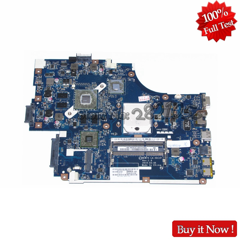 NOKOTION Laptop Motherboard For Acer aspire 5551G 5552G MAIN BOARD NEW75 LA-5911P MBWVF02001 MB.WVF02.001 HD6650M 1GB DDR3 laptop motherboard fit for acer aspire 5551 5551g mbptq02001 mb ptq02 001 new75 la 5912p ddr3 mainboard