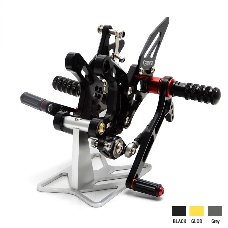 KEMiMOTO мотоцикл аксессуары CNC Регулируемый задний комплект подножки для Кавасаки ZX-10r с компьютера ZX-ZX10R 10r с 2016 Rearsets