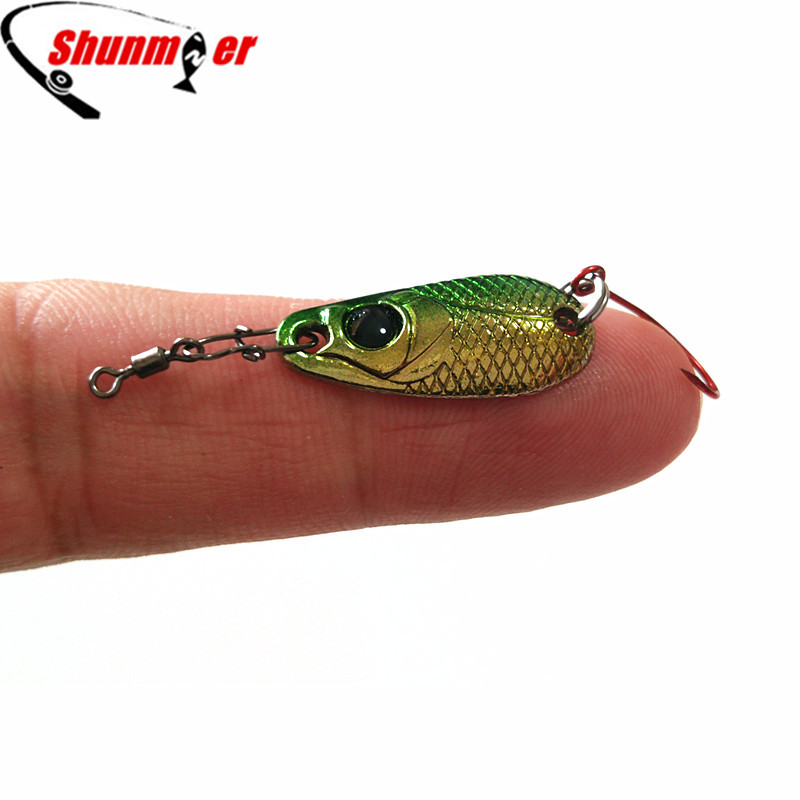 SHUNMIER 1pc 2.1g Multi Metal Spoon Fishing Lure For Trout Pike Hard Spoon Lures Jig Baits Pesca Peche Tackle Wobblers 30pcs set fishing lures kits anti beat metal fishing lure colorful crankbaits tackle de pesca hard spoon baits fake baits
