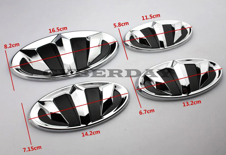 New Refit Badge Logo Car Sticker Brenthon Emblem Rio Sportage For