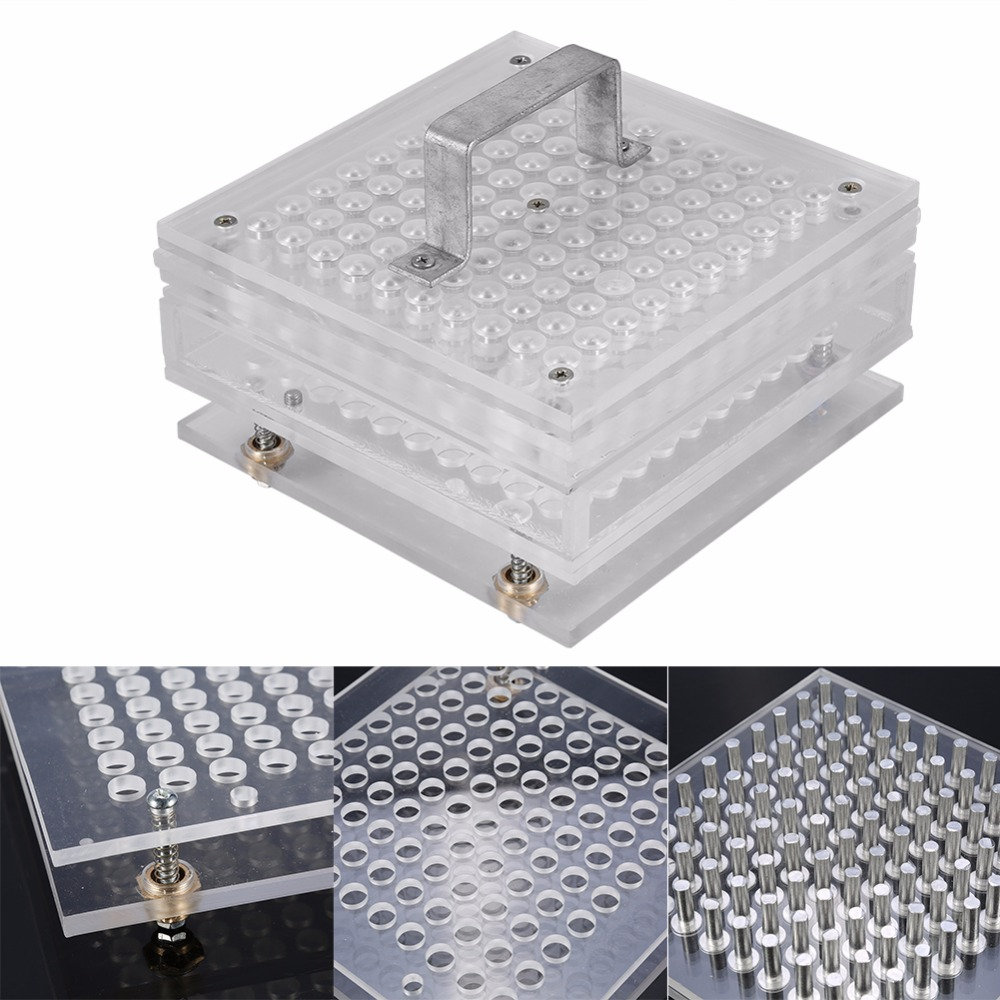 Size 0 Capsule Manual Machine Flate Device Practical Pro 100 Holes Capsule Filler Size #0 Transparent Color /5