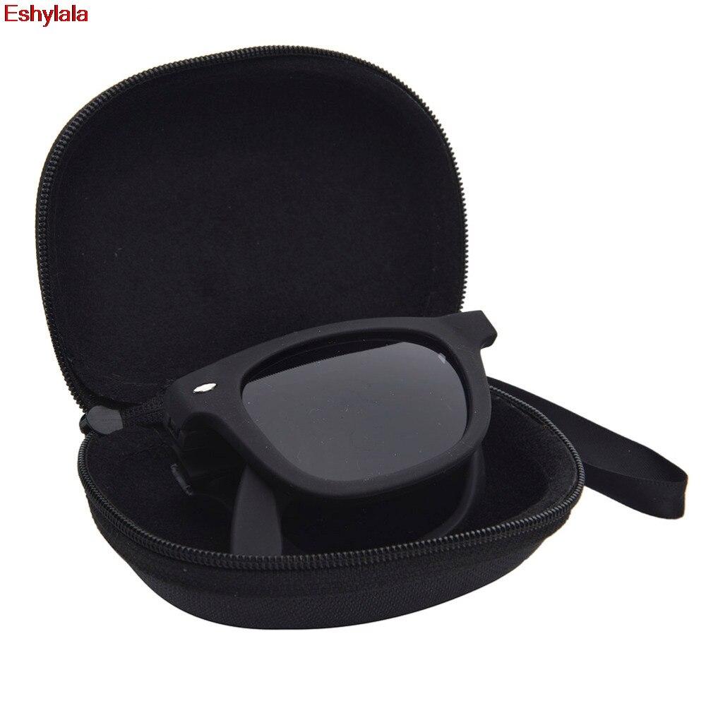 Eshylala-1pc Vintage Women Steampunk Oversize Fold Sunglasses Luxury Brand Designer Men Sunglasses Large Mirror Lens With Case