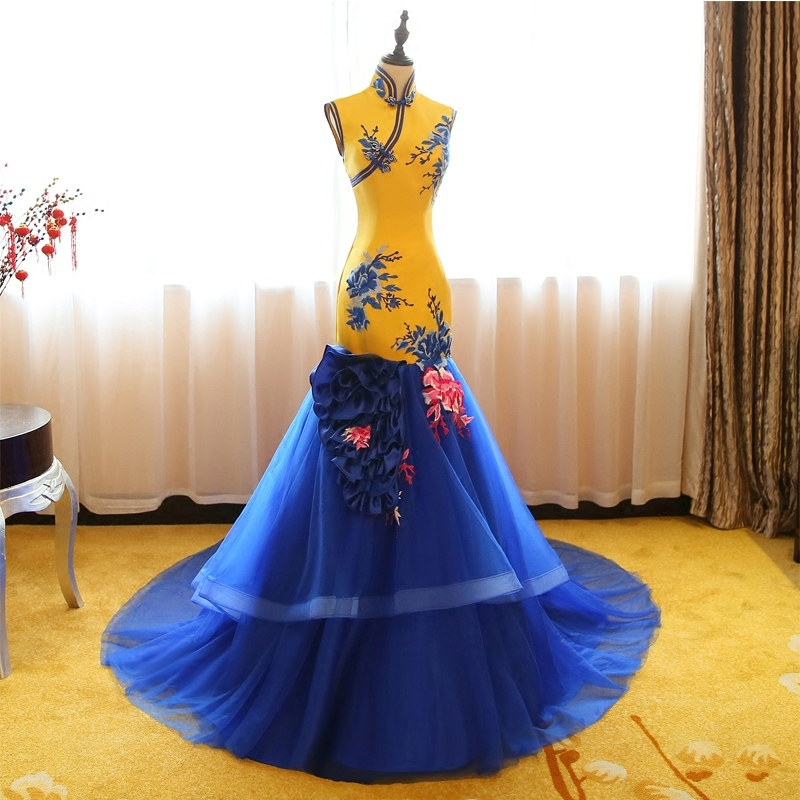 Long Evening Gown Traditional Chinese