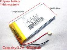 3.7 V lithium polymer battery 4000 mah lare-capacity PDA tablet PC MID 5055110