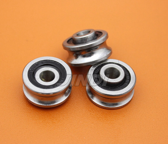 20pcs  SG25  U Groove pulley ball bearings SG8RS  8*30*14 mm Track guide roller bearing ( double row balls) ABEC-5