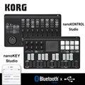 Korg nanoKONTROL Studio/nanoKEY Studio Клавиатура Контроллер Bluetooth/USB MIDI контроль поверхности с 8 фейдеров и переключатели с подсветкой