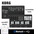 Korg nanoKONTROL Studio/nanoKEY Studio <font><b>Keyboard</b></font> control ler Bluetooth/USB MIDI control Surface с 8 фейдерками и переключателями с подсветкой