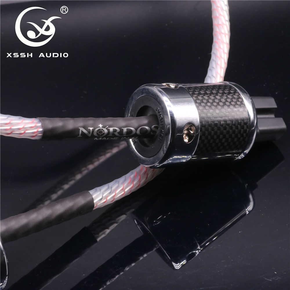 HIFI XSSH аудио 10 мм 9 ядер 16AWG тефлон Vahalla ЕС США IEC Кабель питания Шнур с FI50 и FI50M Женский Мужской Разъем переменного тока
