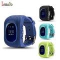 Q50 LEMADO Crianças Inteligentes Assistir Seguro GPS relógio de Pulso Chamada SOS Localizador Anti Perdido Locator Rastreador para Criança PK Q90