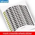 Mavic crossride, наклейки на колесиках для горного велосипеда, 26, 27,5, 29 дюймов, наклейки на обод велосипеда, MTB наклейки для обода