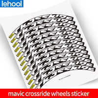 mavic crossride mountain bike wheelset stickers for 26 27.5 29inch use bicycle rim stickers MTB rims decals
