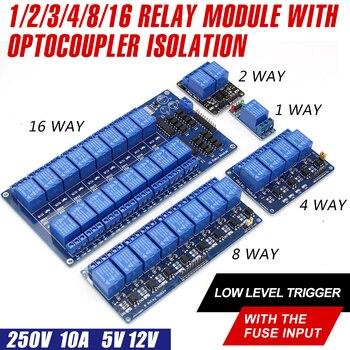 WAVGAT 5 в 12 В низкий уровень триггера 1 2 4 8 16 канальный релейный модуль Интерфейсная плата щит для PIC AVR DSP ARM MCU Arduino